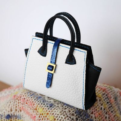 Bag white-black-blue 10