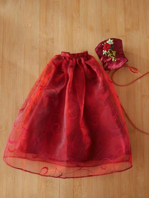 Wine-red-organza rose 41