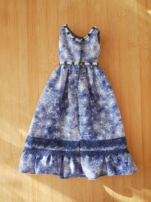 Simple blue-snowflakes prudence 43