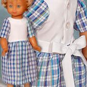 Propínací šaty s krátkým rukávem a vazačkou