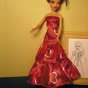 Kaskádové šaty